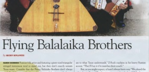 Texas Music Magazine Winter 2013: Flying Balalaika Brothers